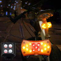 Wireless Control Turn Signal Light Lamp for Bicycle Turning Bike Light Safety A+