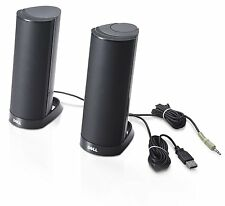 Dell AX210 USB Stereo Speaker System Black Wired PC Computer Desktop Powered