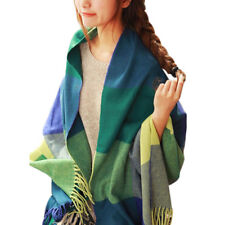 Women Ladies Pashmina Winter Warm Tartan Check Shawl Long Scarf Wrap Stole Plaid