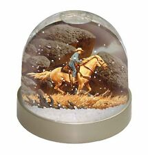Horse Riding Cowboy Photo Snow Globe Waterball Stocking Filler Gift, AHC-1GL