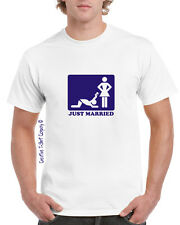FUNNY BRIDE & GROOM STAG, WEDDING, HONEYMOON T-SHIRT Small To 3XL MARRIAGE GIFT