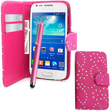 Glitter Wallet Case Pouch PU Leather Cover For Samsung Galaxy Ace 4 G357fz