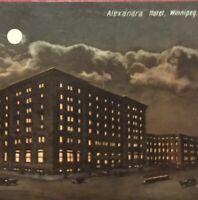 Postcard, 1908 Alexandra Hotel Winnipeg Manitoba Canada, Vintage P22