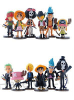 6pcs/set  Anime One Piece Luffy Solon Chopper PVC Figure Model Toy