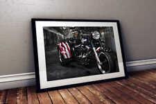 Veterans Tribute - Custom Harley Davidson Trike 24x36 HD Poster Print