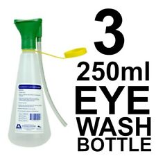 3 x Eye Wash Irrigation Plastic Bottle 250ml First Aid