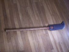 Vintage Antique Brush Axe Billhook Double Bladed Primitive Farm Fire Agriculture