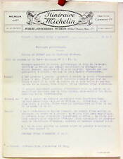 1925 ITINERAIRE MICHELIN DINANT CHATEAU ROYAL D'ARDENNE  CARTE BIBENDUM