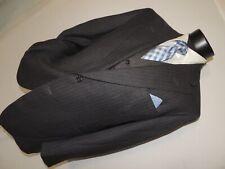 5K Bespoke Oxxford Clothes Nordstrom men's Gray stripe 3 piece suit 42 R