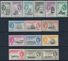1954 FALKLAND ISLANDS DEPENDENCIES SHIPS DEFINITIVES SET OF 15 MINT MH
