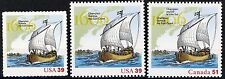 Champlain Surveys East Coast Complete Set of 3 MNH Stamps Scott's 4073 & 4074