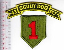K-9 Vietnam US Army 43rd Scout Dog Platoon 1st Infantry Division War Dogs