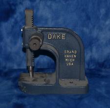 Dake Model X 1ton Single Lever Arbor Press Vintage missing lever arm
