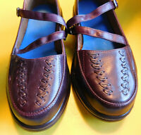 DR COMFORT Betsy Women's burgundy Leather Mary Jane Style Diabetes Shoes 7.5 Wid