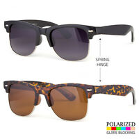Polarized Fashion Sunglasses Men Women Vintage Designer Metal Half Frame kx y