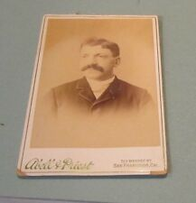 1890's Abell & Priest San Francisco CA German Immigrant Cabinet Card Photograph