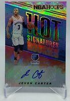 Jevon Carter 2018-19 Panini NBA Hoops Hot Signatures Auto RC ( Grizzlies )