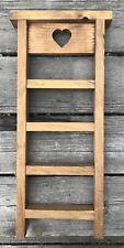 Primitive Wooden Trinket Knick-knack Display Shelf Wall Mount Heart Cut Out Art