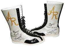 WWE ALBERTO DEL RIO RING WORN SIGNED BOOTS WITH PIC PROOF 5