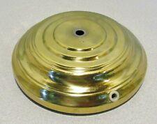 "New listing Lamp Base, 7"" Across, Bright Brass Finish, 2 1/2"" Fitter"