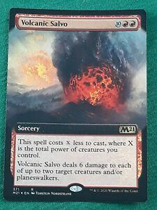 Volcanic Salvo, Extended Art Foil (MTG, Magic the Gathering), M21, NM