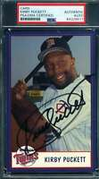 Kirby Puckett PSA DNA Coa Autograph Hand Signed Twins Team Issue Photo Autograph