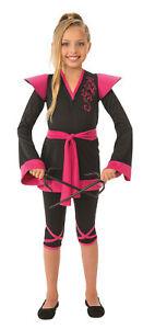 Ninja Girl Pink Black CHILD Girls Costume NEW