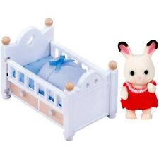 Puppen Haus Möbel Puppen Bett mit Baby Puppenhaus Sylvanian Families 2205