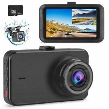 Dash Cam Dual Camera Front/Rear 1080P DVR Night Vision Parking/Motion Detect