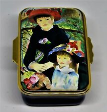 "Halcyon Days Enamel Box - Renoir Painting - ""Two Sisters"" - ""On The Terrace"""