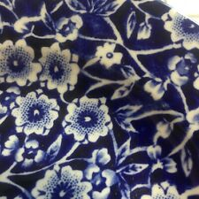 CALICO BURLEIGH 6 inch SIDE PLATE BLUE WHITE FLORAL STAFFORDSHIRE ENGLAND