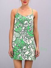 NWT LILLY PULITZER L SILK DUSK DRESS GO GO GREEN SHAPE UP OR SHIP OUT