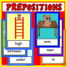 PREPOSITIONS teaching resource posters EYFS KS1 KS2 SEN speech and language - CD