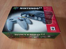 Nintendo 64 N64 Konsole mit original Verpackung, Pal Ovp CIB