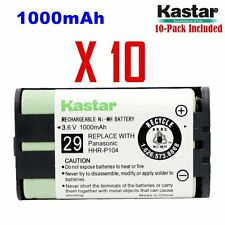 Kastar HHR-P104 Cordless Phone Battery( 10 Pack) For Panasonic Type29, HHRP104A