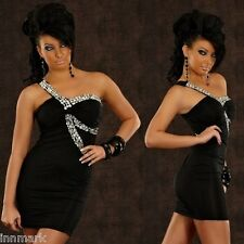 527 SEXY CLUBBING PARTY REDIAL ONE SHOULDER DRESS BLACK ONE SIZE REGULAR