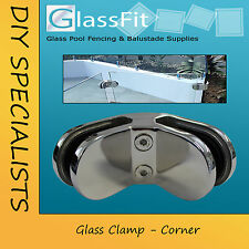 Corner Glass Clamp - Frameless Glass Pool Fencing