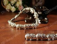 Hot Workmanship Fine Fashion Tibetan Silver Elephant Bracelet Tibet Bangle G301