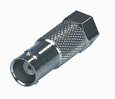 Adaptor Connector  BNC Socket Female To F Male Plug