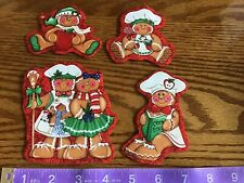 Christmas Gingerbread Men Fabric Iron On Appliques (#4)