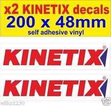 x2 KINETIX RACING rally race car decals nisan 350z infiniti honda ford sticker