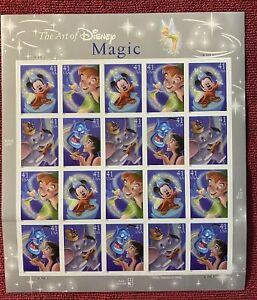 The Art of Disney Magic Sheet of 20 MNH 41¢ Stamps Scott 4192-4195 Dumbo Mickey