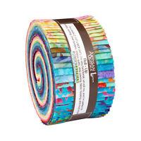 Kaufman Batik Fabric Strips Jelly Roll Rollup, SONGBIRD, RU-599-40