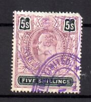Cape of Good Hope KEVII 5/- Used  Revenue WS17959
