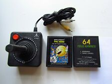 3 PIECE LOT ATARI 3600 JOYSTICK CONTROLLER & 2 GAMES PAC-MAN & ASTEROIDS