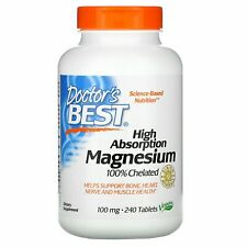 High Absorption Magnesium 100% Chelated with Albion Minerals, 100 mg, 240