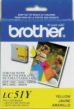 New Genuine Brother LC51 Yellow Ink Cartridge Intellifax 1960c MFC-685cw