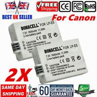 2×Battery LP-E5 for Canon EOS 450D 500D 1000D Digital Rebel XSi,Kiss X2 X3 , T1i