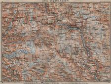 SOUTH GUDBRANDSDAL. Sydl. Lillehammer Favang. Topo-map. Norway kart 1912