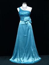 Cherlone Blue One Shoulder Ballgown Wedding Evening Bridesmaid Formal Dress 12